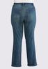Plus Size Whiskered Jeans alternate view