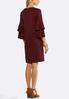 Plus Size Studded Ruffle Sleeve Dress alternate view