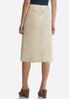 Plus Size Khaki Denim Skirt alternate view