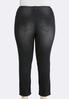 Plus Size Distressed Black Wash Jeans alternate view