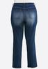 Plus Size Faded Straight Leg Jeans alternate view