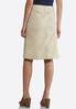 Khaki Denim Skirt alternate view
