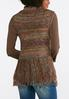 Plus Size Tonal Stripe Fringe Vest alternate view