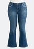 Plus Size Embellished Pocket Bootcut Jeans alternate view