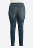 Plus Size Lightly Distressed Skinny Jeans alternate view