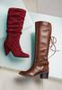 Faux Suede Scrunch Boots alternate view