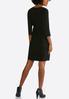 Plus Size Pearl Slit Sleeve A- Line Dress alternate view