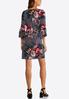 Plus Size Bell Sleeve Floral Swing Dress alternate view