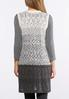 Plus Size Ombre Pointelle Sweater Vest alternate view