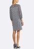 Plus Size Polka Dot Puff Print Dress alternate view