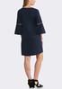 Plus Size Grommet Bell Sleeve Shift Dress alternate view