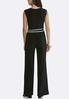 Petite Black And White Belted Jumpsuit alternate view