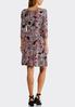 Plus Size Seamed Puff Floral Dress alternate view