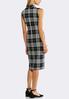Plus Size Textured Check Midi Dress alternate view