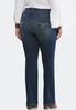 Plus Size Dark Shape Enhancing Bootcut Jeans alternate view