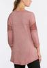 Plus Size Lace Sleeve Sweatshirt alternate view