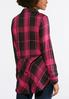 Plus Size Pink Plaid Tunic alternate view
