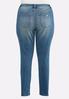 Plus Size Distressed Skinny Stretch Jeans alternate view