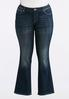Plus Size Crystal Embellished Bootcut Jean alternate view