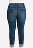 Plus Size Distressed Cuff Jeans alternate view