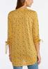 Dotted Ruched Sleeve Top alternate view