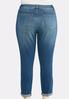 Plus Size Double Roll Skinny Ankle Jeans alternate view