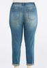 Plus Size Patchwork Double Roll Skinny Jeans alternate view