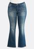 Plus Size Stitch And Stone Embellished Jeans alternate view