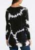 Plus Size Tie Dye Crochet Shoulder Knit Top alternate view