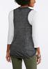 Plus Size Burnout Braided Fringe Vest alternate view