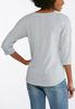Lace Up Grommet Sleeve Top alternate view