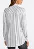 Black And White Striped Boyfriend Shirt alternate view