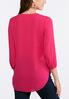 Plus Size V- Neck Pleated Blouse alternate view