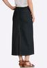 Plus Size Rinse Wash Denim Skirt alternate view