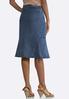 Plus Size Flounce Denim Skirt alternate view