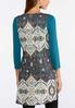 Plus Size Aztec Sweater Vest alternate view