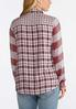 Plus Size Red Mixed Plaid Shirt alternate view
