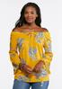Golden Paisley Off The Shoulder Top alternate view