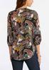 Plus Size Rainbow Paisley High- Low Top alternate view
