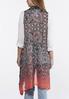 Plus Size Floral Ombre Vest alternate view