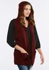 Plus Size Cable Knit Hooded Vest alternate view