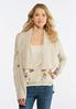 Plus Size Cable Fringe Cardigan Sweater alternate view