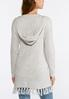 Plus Size Hooded Cardigan Sweater alternate view