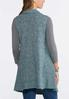 Plus Size Speckled Teal Sweater Vest alternate view