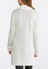 Plus Size Ivory Cardigan Sweater alternate view