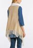 Plus Size Reversible Fringe Sweater Vest alternate view