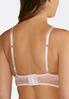 Plus Size Allover Lace Pink Bra alternate view