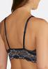 Plus Size Two- Toned Floral Lace Bralette alternate view