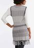 Plus Size Novelty Fringe Sweater Vest alternate view