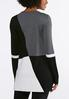 Plus Size Colorblock Pullover Sweater alternate view